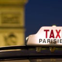 3515979 - taxi near the arc de triomphe in paris
